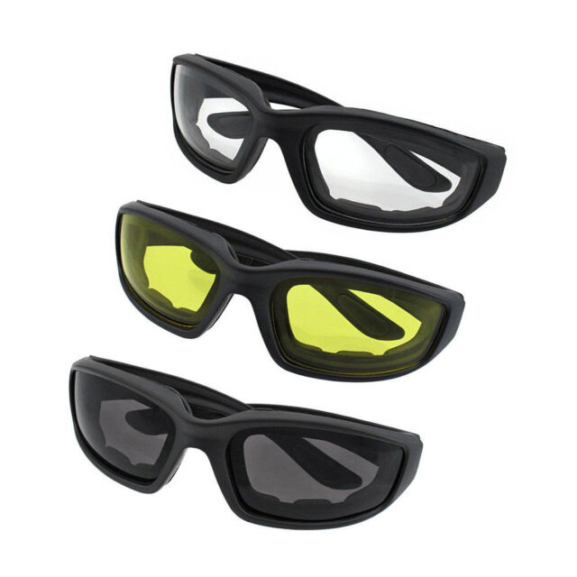 d0ad41eab03f 3 Pair Motorcycle Sports Biker Riding Glasses Padded Wind Resistant  Sunglasses