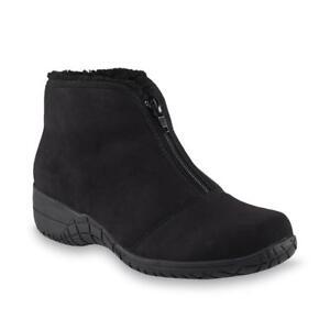 New-Womens-Basic-Editions-Wilder-Winter-Bootie-Style-30623-Wide-Black-90D-pr