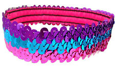 "12 1"" Stretch Sequin Headbands TEAM SETS Softball Dance Sports Wholesale"
