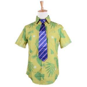 Zootopia-Fox-Nick-Wilde-Cosplay-Costume-Mens-Uniform-Polo-T-Shirt-With-Tie-Shirt