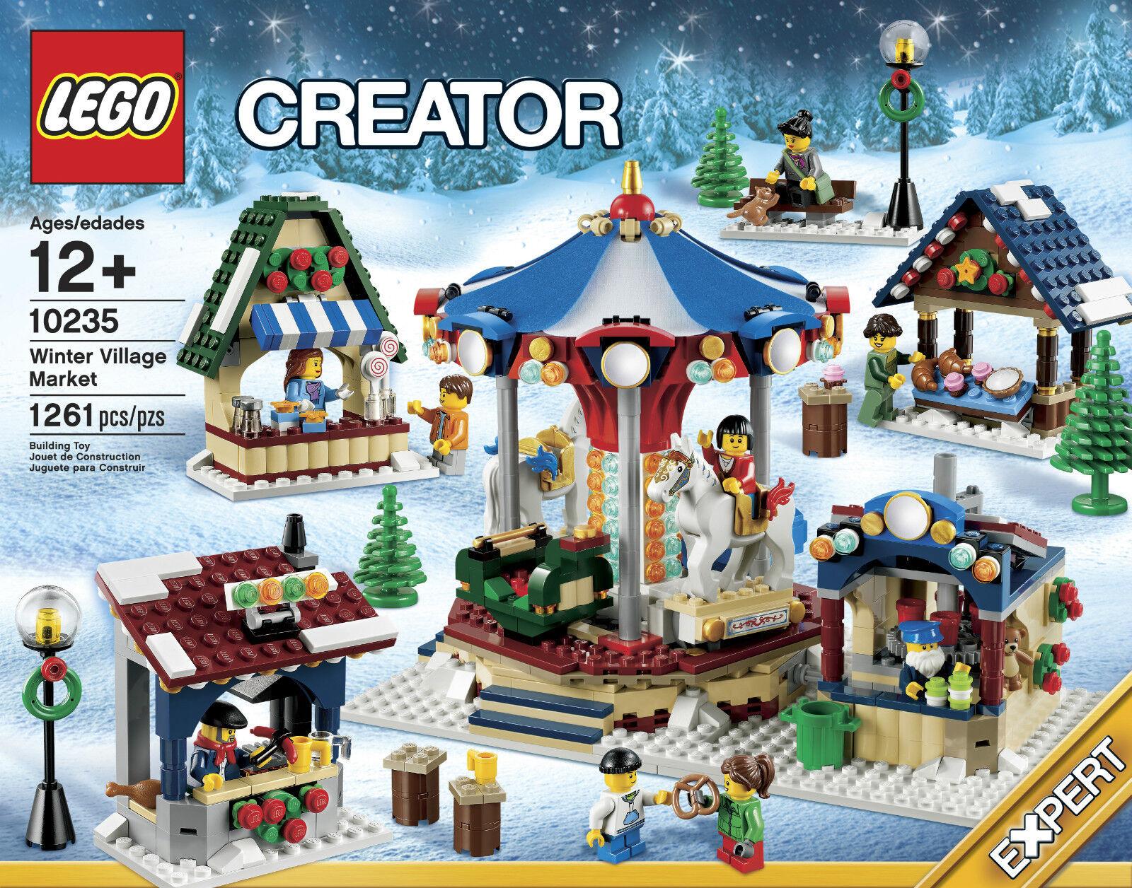 LEGO LEGO LEGO Holiday Christmas - Rare - 10235 Winter Village Market - New & Sealed 74638c