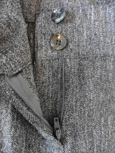 di scuro spina taglia pesce donna grigio Pantaloni a da 16 Herringbone ZnaqxX