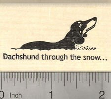 Holiday Pig Rubber Stamp Eating Snow  K31503 WM