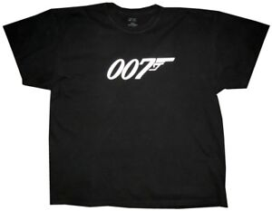 PREOWNED-MENS-PORT-amp-COMPANY-007-JAMES-BOND-SHORT-SLEEVE-T-SHIRT-XXL