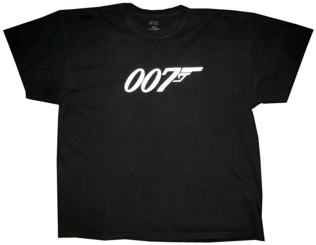 PREOWNED MENS PORT & COMPANY 007 JAMES BOND SHORT SLEEVE T SHIRT XXL