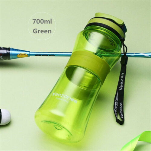1pcs 700ML Plastic Sports Water Bottle Drink Cycling Running Bottle With Mouth