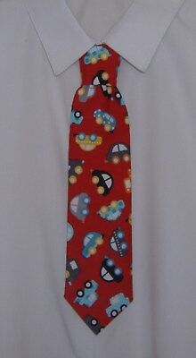 Handmade Childrens Boys Red Pokemon Character Tie Pre-tied elasticated
