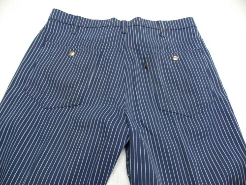 Vtg 60s LEVIS BiG E Sta-Prest Blue White Stripe Hi