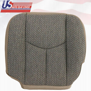2004 2005 2006 Chevy 1500 Work Truck-Driver Side Bottom Cloth Seat Cover Dk Gray
