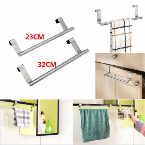Over Door Tea Towel Holder Rack Bathroom Rail Cupboard Hanger Kitchen Hook
