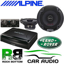 Landrover Defender 90 Alpine Active Under Seat Subwoofer & Dash Car Speaker Kit