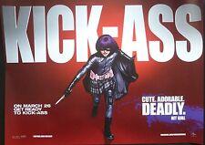 KICK ASS  ORIGINAL CINEMA 2010 QUAD POSTER HIT GIRL CHLOE GRACE MORETZ