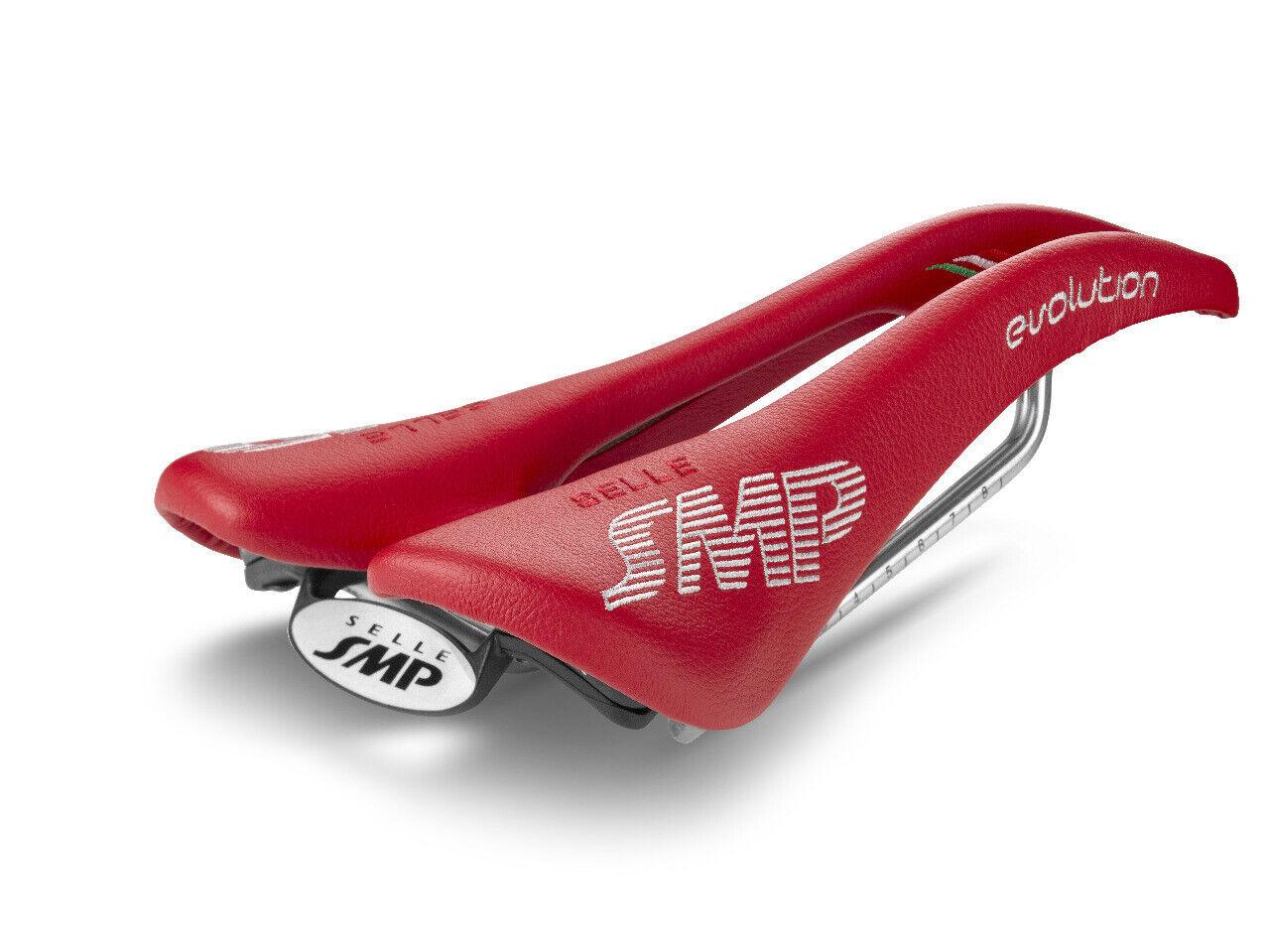 Selle SMP Evoluzione Sella Della Bicicletta Sella  Rosso. Made in