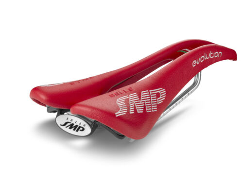 Made in Italy Selle SMP  Evolution Bicycle Saddle Seat Red