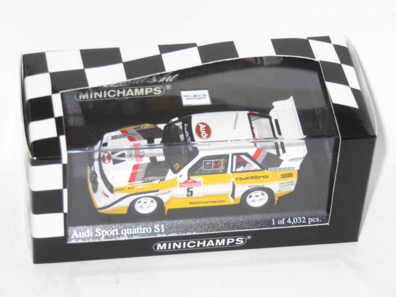 1 43 Audi Sport Quattro S1  Rallye Sanremo 1985  Winners  W.Rohrl Ch.Geistdorfer