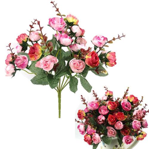 21 Köpfe Seidenblumen Kunstblumen Blumenstrauß Blumen