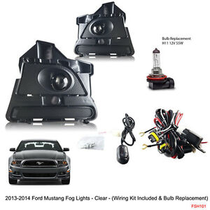new 2013 - 2014 ford mustang clear fog lights switch bulbs ... 2013 ford mustang wiring 2013 ford mustang fuse box diagram