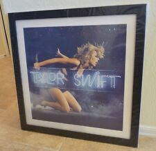 """Taylor Swift 1989 Live Neon Lithograph Framed & Signed 22"""" X 22"""" PSA Guaranteed"""