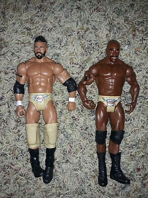Primetime Players Darren Young And Titus O'Neil 2011 WWE Mattel Wrestling Figure