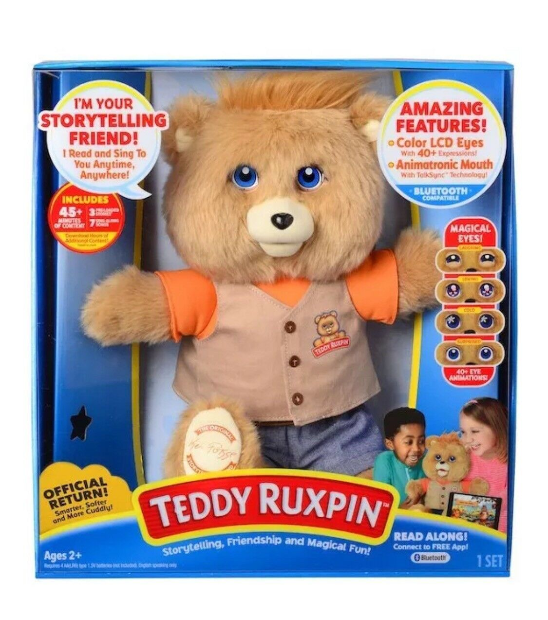 NEW Teddy Ruxpin Official Return of the Storytime & Magical 14  Bear 2017