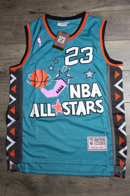 new concept 52b37 c26be Michael Jordan 1996 All Star Jersey Men 23 Retro Basketball Green Swingman  - NWT