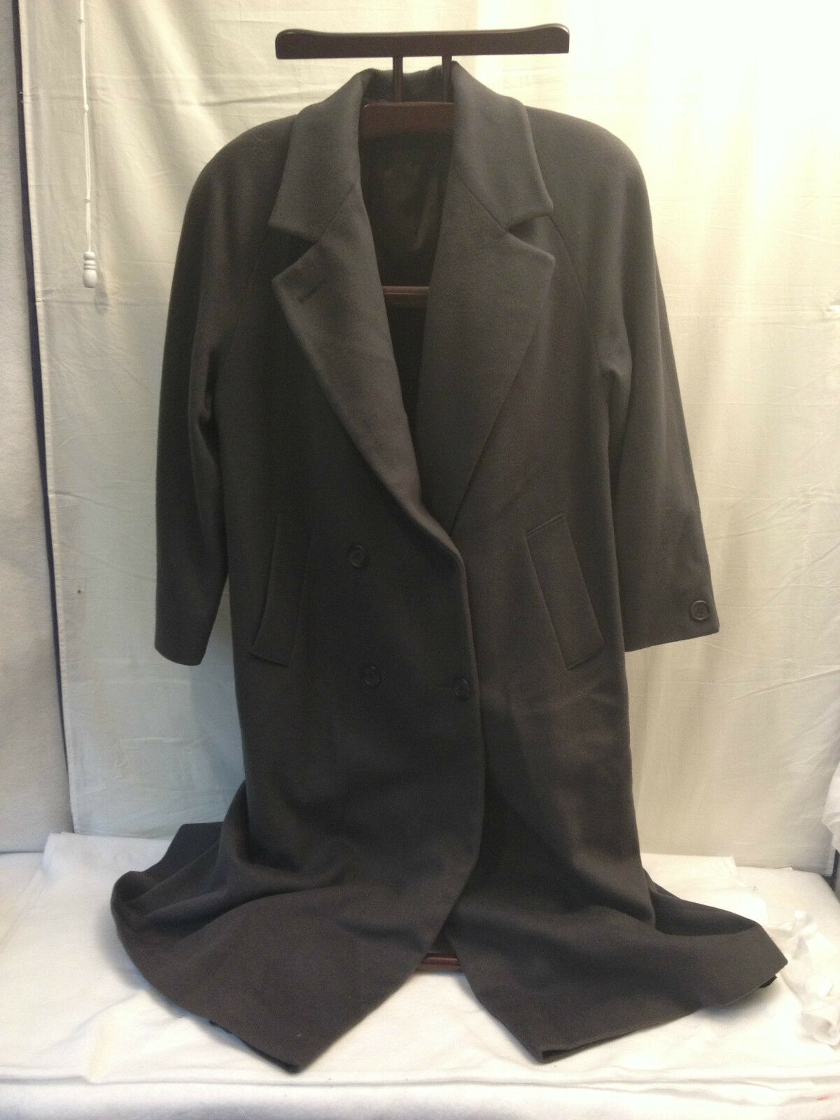 Forecaster Boston Double Breasted Long Coat Wool Womens Size 8