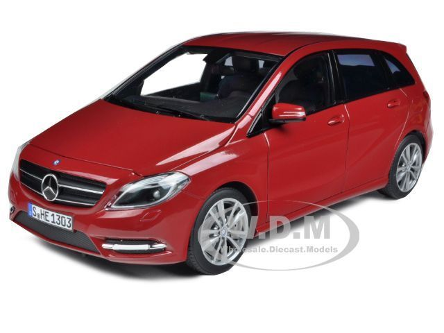 2011 MERCEDES B180 rosso 1 18 DIECAST CAR MODEL BY NOREV 183559