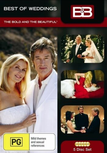 1 of 1 - Bold and the Beautiful - Best of the Weddings (DVD, 2009, 5-Disc Set)