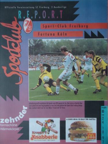 BL 1992//93 SC Freiburg Programm 2 Fortuna Köln