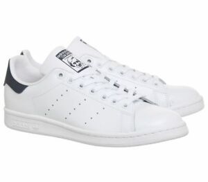 Adidas-Originals-Stan-Smith-Unisex-Leather-Trainers-Sneakers-White-Navy-M20325