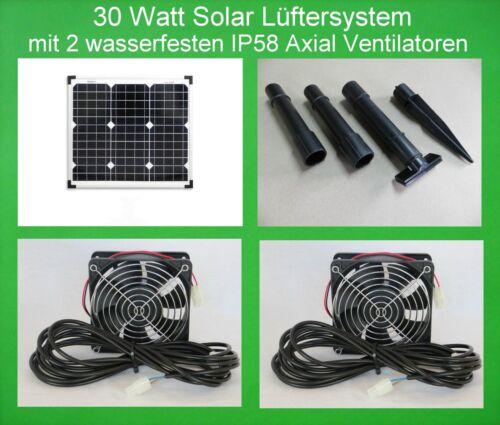 30W wasserfester IP58 Solarlüfter Solar Ventilator Belüfter Gewächshaus Lüfter