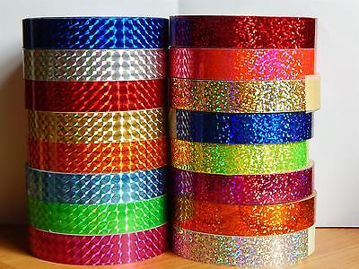 Self Adhesive 20mm wide x 10m long Lures Hoop Tape Silver Mirror Tape