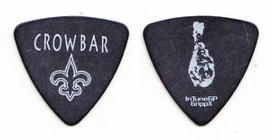 Crowbar Jeff Golden Chicken Drumstick Black Bass Guitar Pick - 2013 Tour