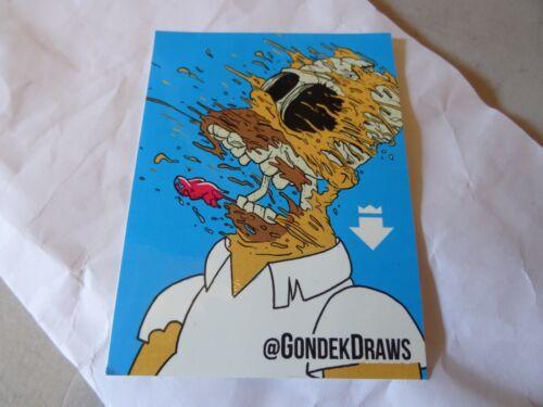 "NEW RARE Matt Gondek Signed Deconstructed Homer 4/""x3/"" Sticker The Simpsons"