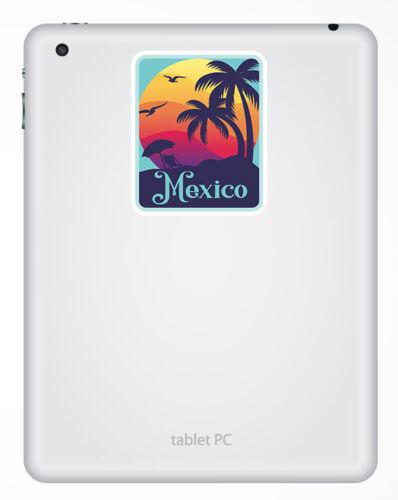 Travel Sunset Fun Sticker Laptop Luggage #18473 2 x 10cm Mexico Vinyl Stickers