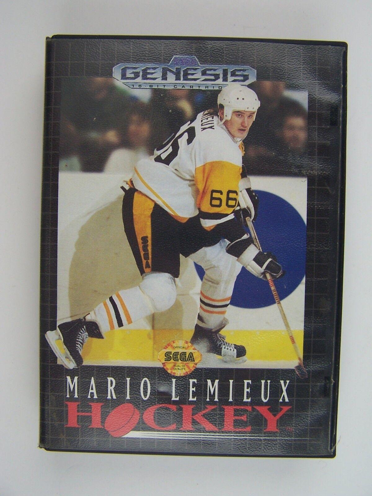 Mario Lemieux Hockey Sega Genesis Game & Cartridge
