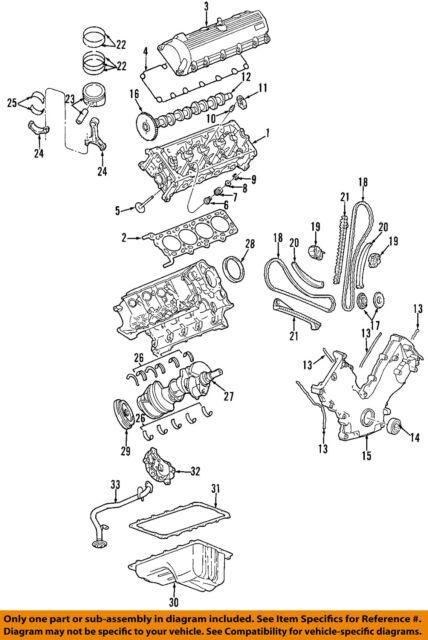 4 ford oem engine crankshaft crank main bearings 2l3z6d309da ebay rh ebay com