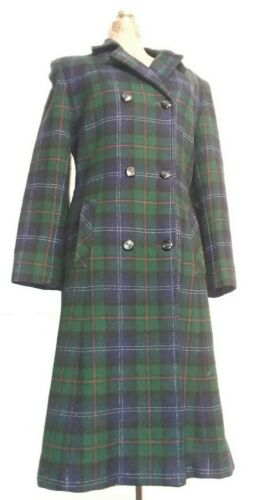Vtg Pendleton Women's Plaid Wool Double Breasted L