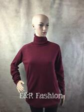 ZARA RED POLO NECK JUMPER WITH ELBOW PATCHES SIZE SMALL (B10) REF: 0367 973