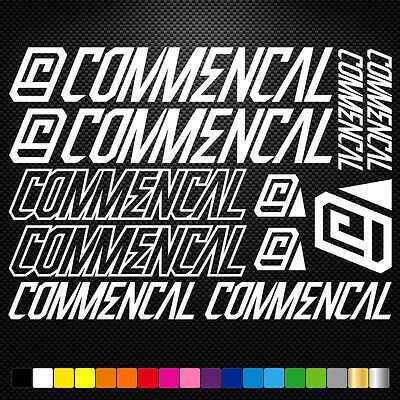 Commencal decals for bike frame Vinyl Sticker Cycle Bicycle mtb road Cycling 21