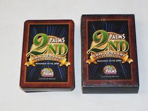 Palms Casino Las Vegas 2nd Anniversary Celebration Deck Playing Cards Nov 2003