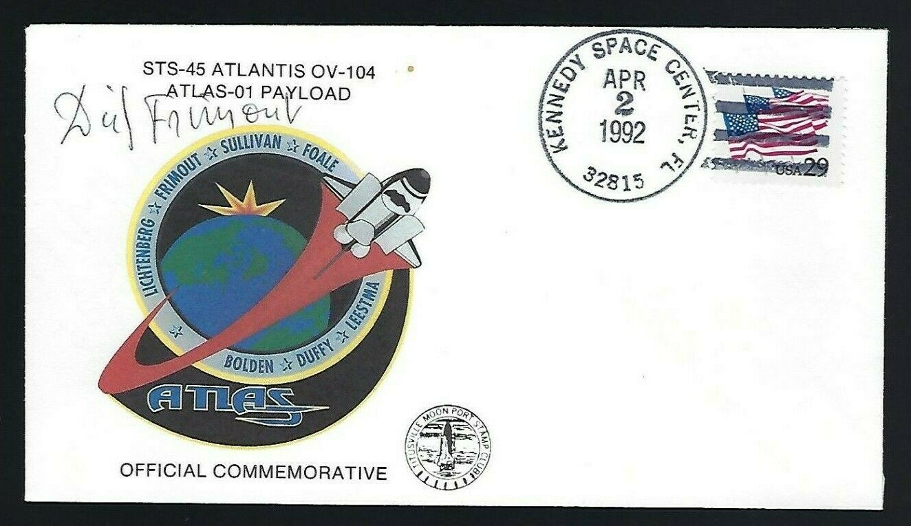 s l1600 - Dirk Frimout signed cover ESA Shuttle Astronaut STS-45