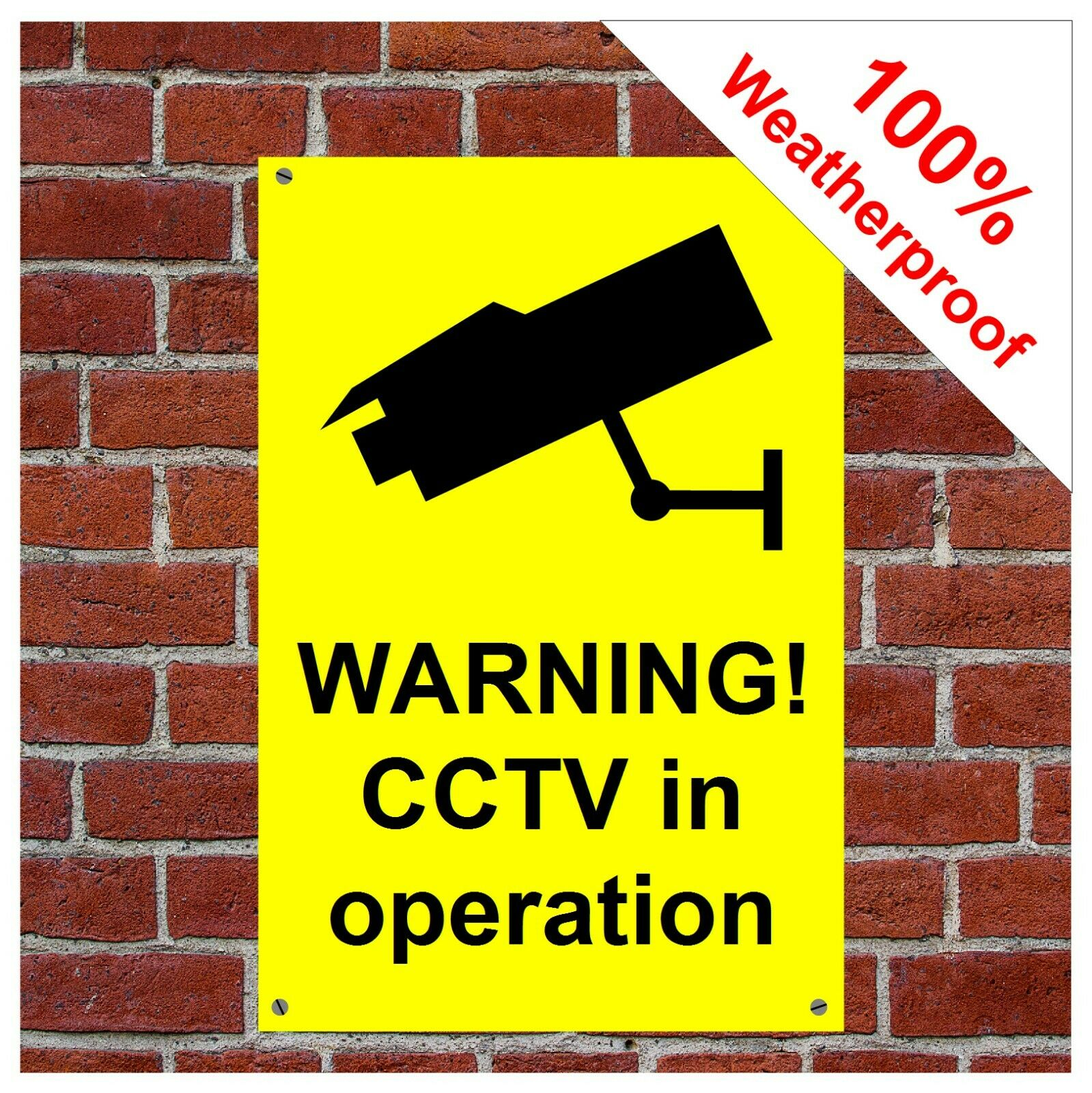 CCTV in operation sign 9014