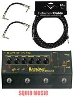 Tech 21 Nyc Sansamp Bass Driver Di Deluxe ( 20ft Fender Cable & 2 Patch Cables )