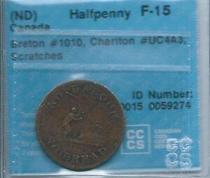 UC-4A3-CCCS-F-15-Scr-Halfpenny-token-Upper-Canada-No-labour-No-bread-Breton-1010