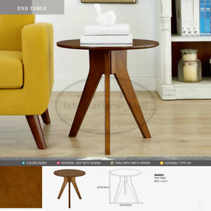 Image Is Loading Small Round Table End Modern Accent Side Wood