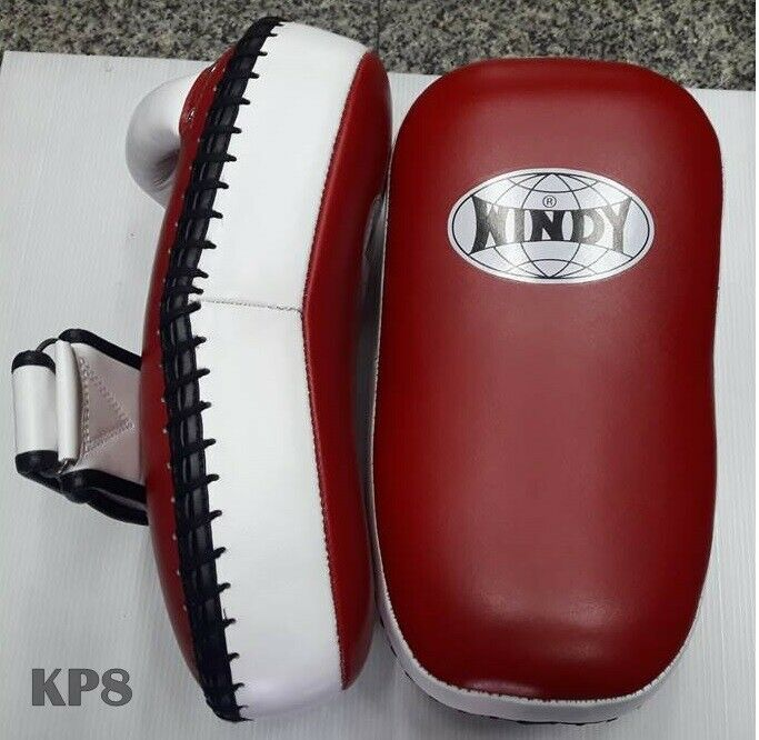 NEW Windy Extended Thai Pads MMA UFC Muay Thai Kickboxing Black Red
