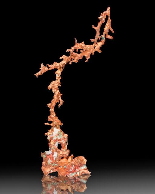"7"" Filigree of CRYSTALLIZED COPPER BrightShiny Colorful White Pine M MI for sale"