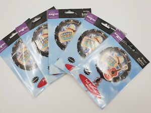 5-Pack-18-034-Round-Prismatic-Wild-West-Cowboy-Musical-Foil-Helium-Party-Balloon