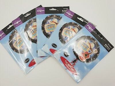 "5 Pack 18/"" Round Prismatic Wild West Cowboy Musical Foil Helium Party Balloon"
